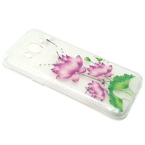 Samsung S6 Edge Diamond Flower silikonska futrola DZ002