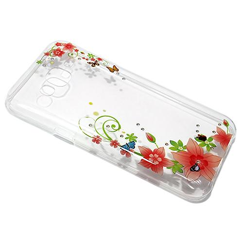 Samsung S6 Edge Diamond Flower silikonska futrola DZ007