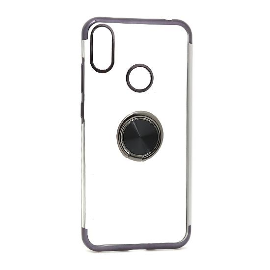 Huawei Y6 2019 Magnetic Ring silikonska futrola (Black)