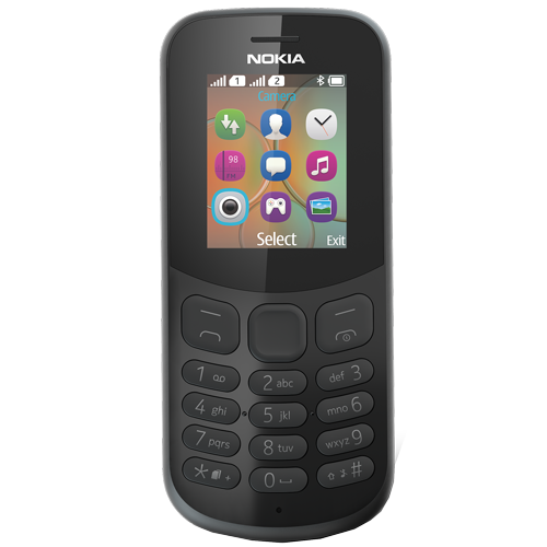 Nokia 130 New 2017 Dual Sim (Black)