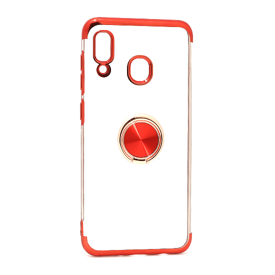 Samsung A20 Magnetic Ring silikonska futrola (Red)