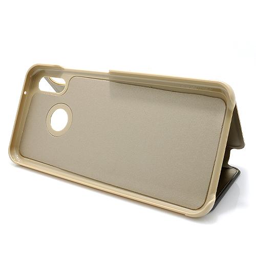 Huawei P20 Lite Clear view futrola (Gold)