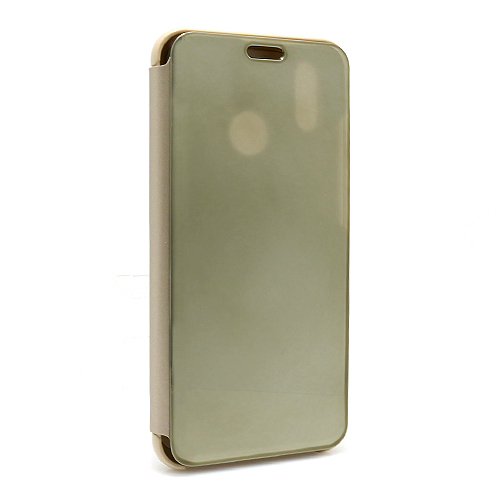 Huawei P20 Lite Clear view futrola (Gold)