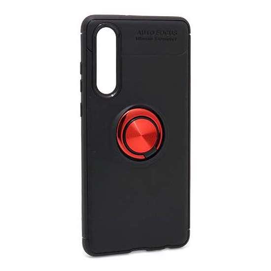 Huawei P30 Elegant Ring futrola (Black-Red)