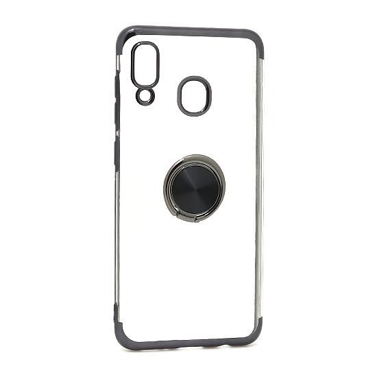 Samsung A20 Magnetic Ring silikonska futrola (Black)