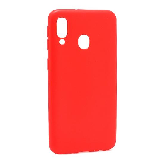 Samsung A20E ultra tanka kolor silikonska futrola (Red)
