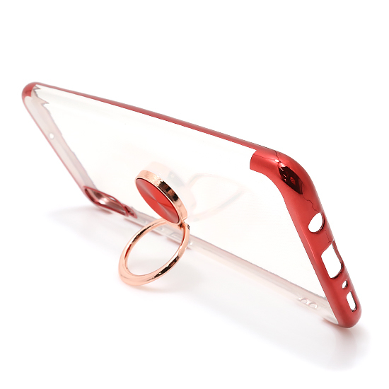 Samsung A70 Magnetic Ring silikonska futrola (Red)
