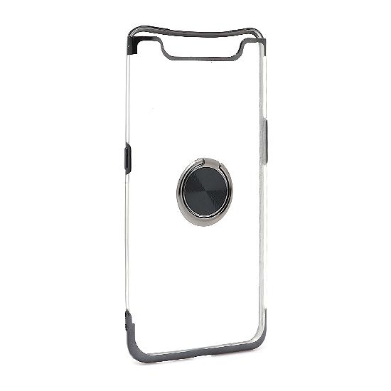 Samsung A80 Magnetic Ring silikonska futrola (Black)