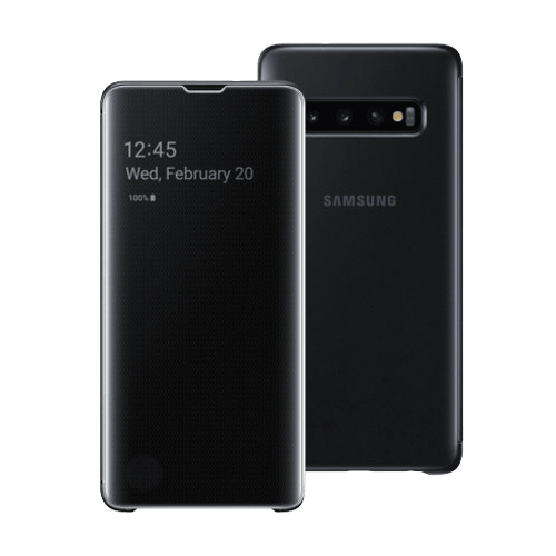 Samsung S10 Clear View futrola (Black)