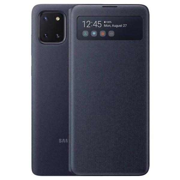 Samsung Note 10 Lite S View futrola (Black) - Mgs Mobil Niš
