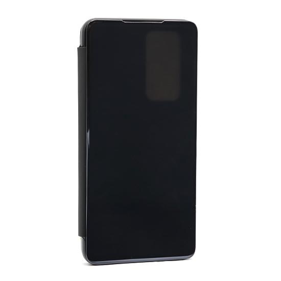 Huawei P40 Lite futrola na preklop Clear View (Black) - Mgs mobil Niš