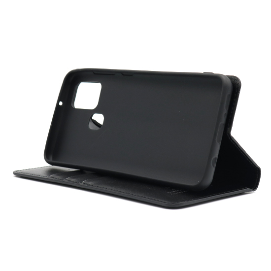 Samsung A21s futrola na preklop Hanman (Black) - Mgs mobil Niš