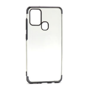 Samsung A21s silikonska futrola Color edge (Black) - Mgs mobil Niš