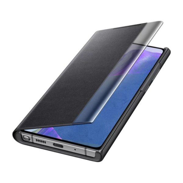 Samsung Note 20 Clear View futrola (Black) - Mgs Mobil Niš