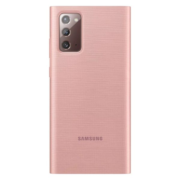 Samsung Note 20 Clear View futrola (Copper Brown) - Mgs Mobil Niš