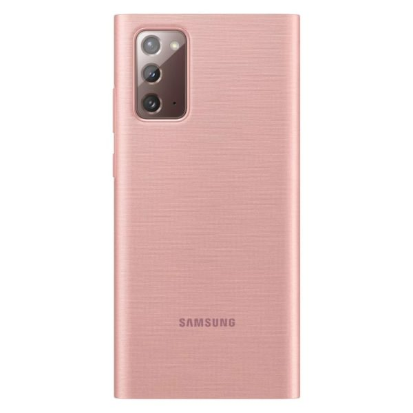 Samsung Note 20 LED View futrola (Copper brown) - Mgs Mobil Niš