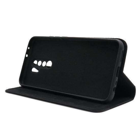 Xiaomi Redmi 9 futrola na preklop Ihave Canvas (Black) - Mgs mobil Niš