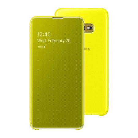 Samsung S10E Originalna Clear View futrola (Yellow) - Mgs Mobil Niš