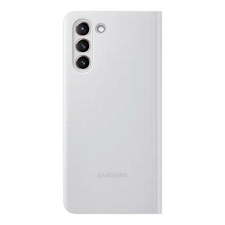 Samsung S21 Originalna S-View futrola (Light Grey) - Mgs Mobil Niš