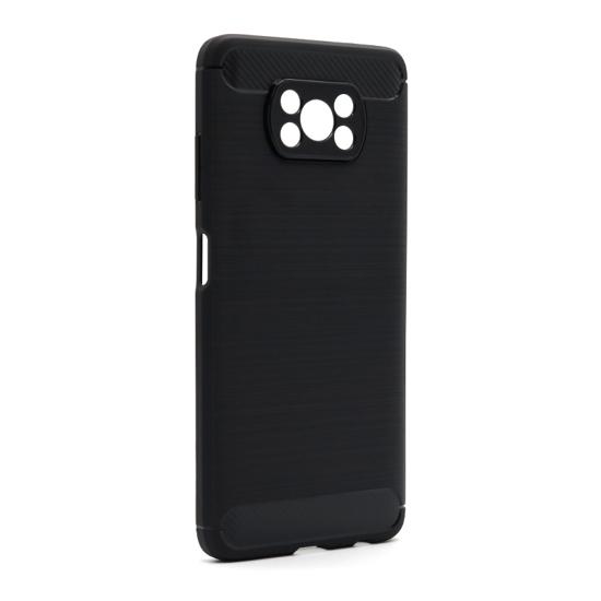 Xiaomi Poco X3 silikonska futrola Brushed (Black) - Mgs mobil Niš