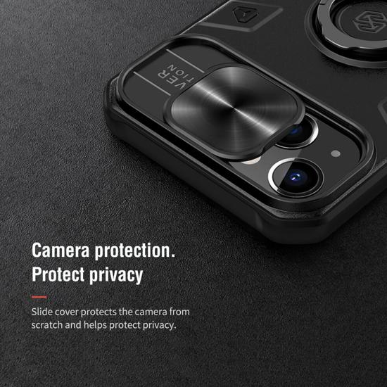iPhone 13 Nillkin Cam Shield Armor futrola (Black) - Mgs Mobil Niš